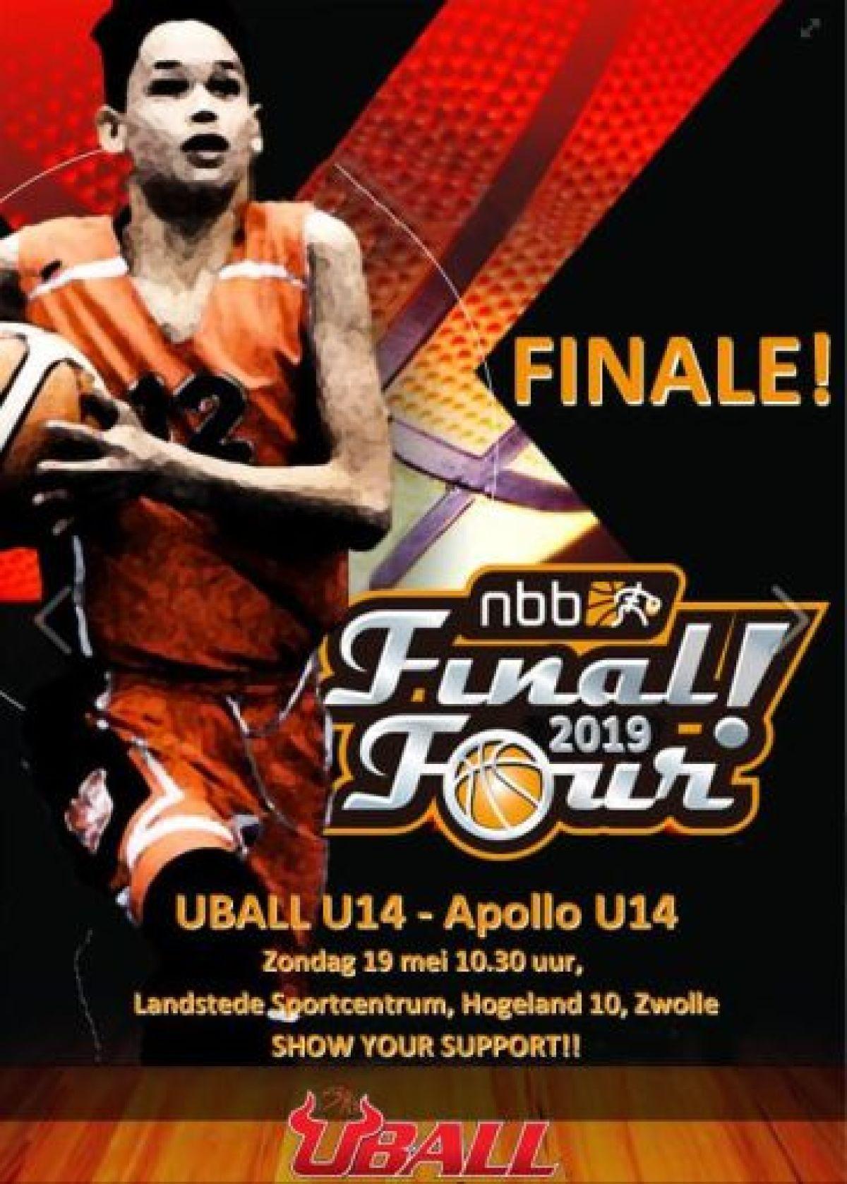 UBALL U14 in de landelijke finale a.s. zondag 19 mei!