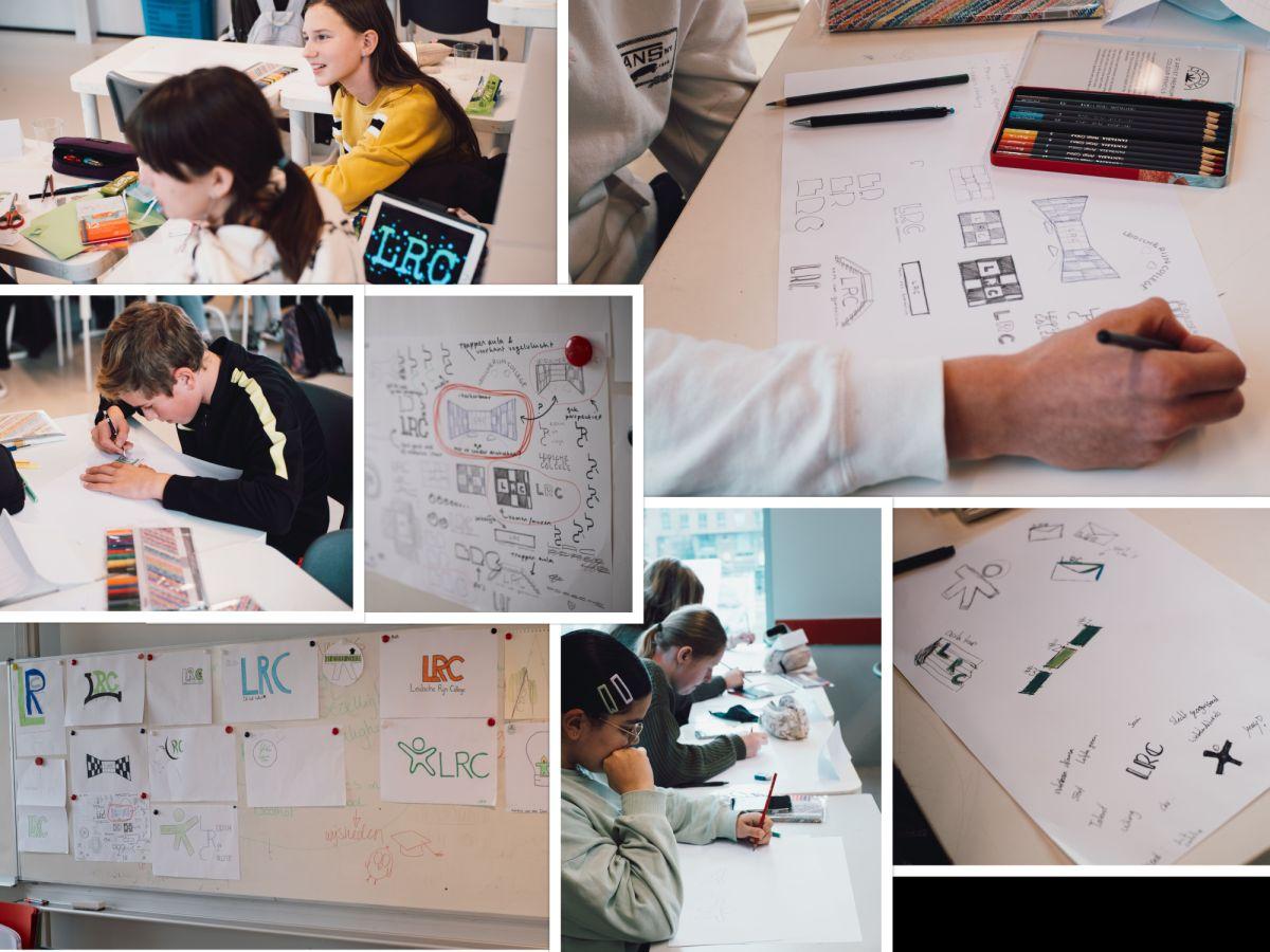 Leerlingen creatief aan de slag voor nieuw LRC-logo
