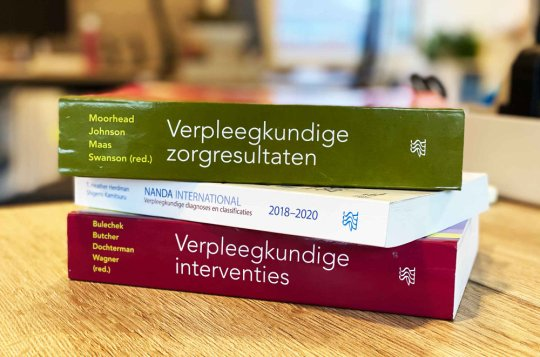 Drie boeken NANDA, NIC en NOC