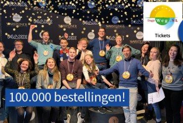 100.000 keer een dagje weg met DagjeWeg.NL Tickets