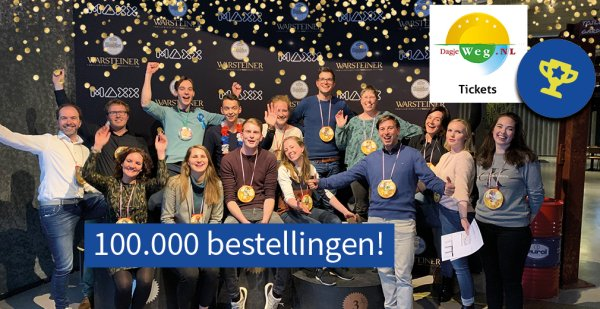100.000 bestellingen via DagjeWeg.NL Tickets