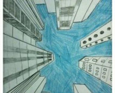 Afbeelding van New York in het juiste perspectief