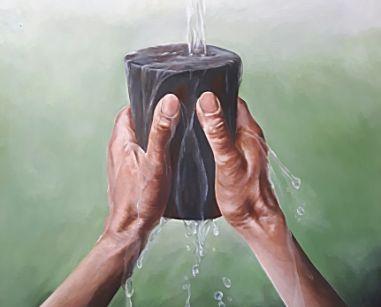 Afbeelding van Ps.23: 5b 'Mijn beker vloeit over'