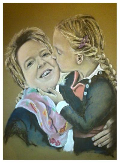 Hannah en mama