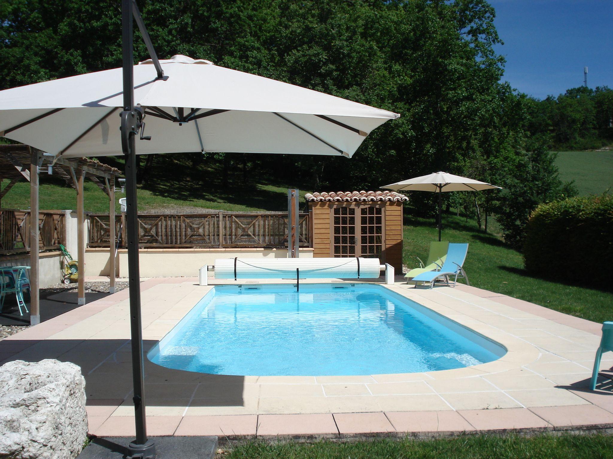 zwembad Vakantiehuis Frankrijk LousRouquets
