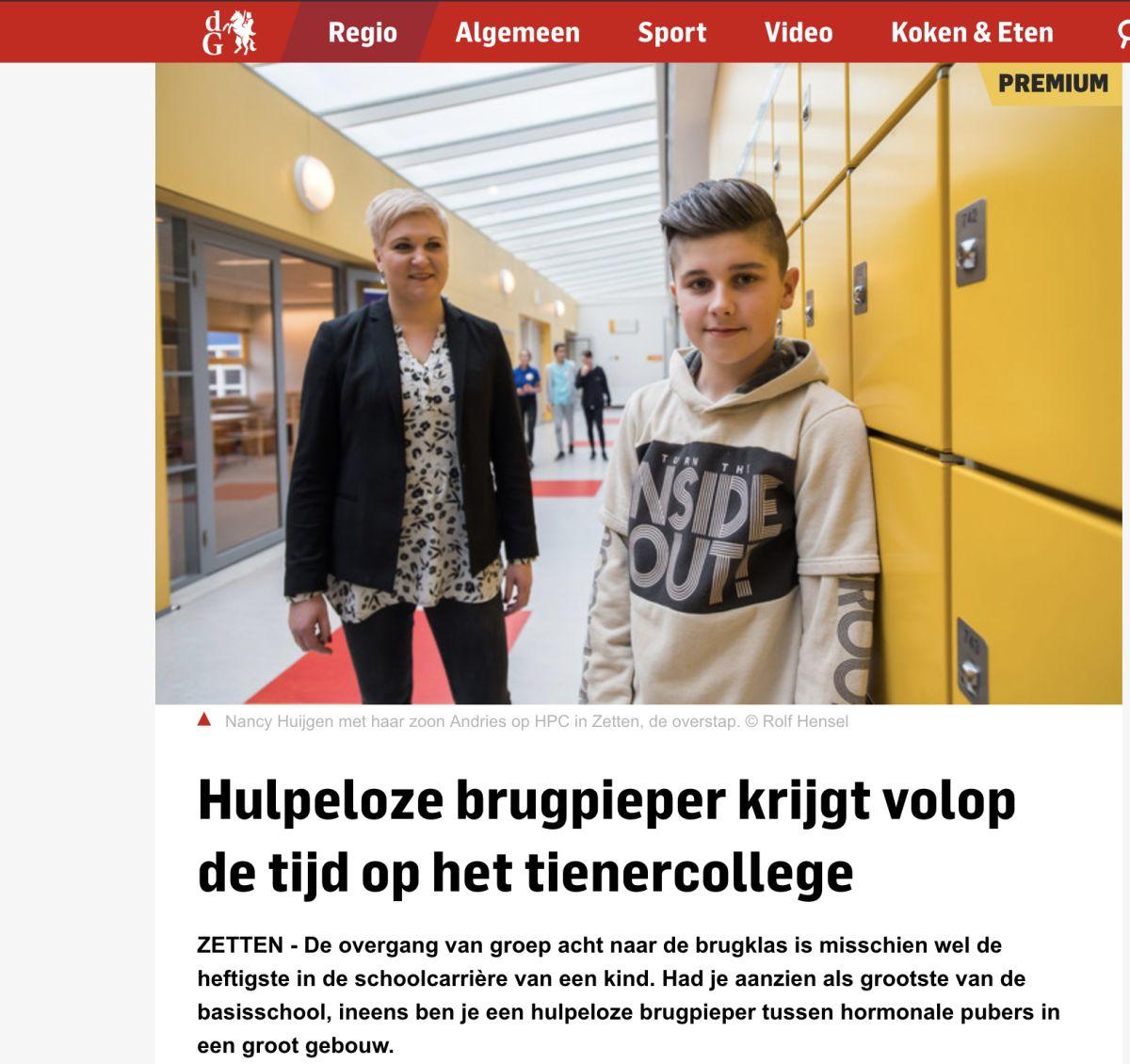 De voordelen van 10-14 Onderwijs in de Gelderlander