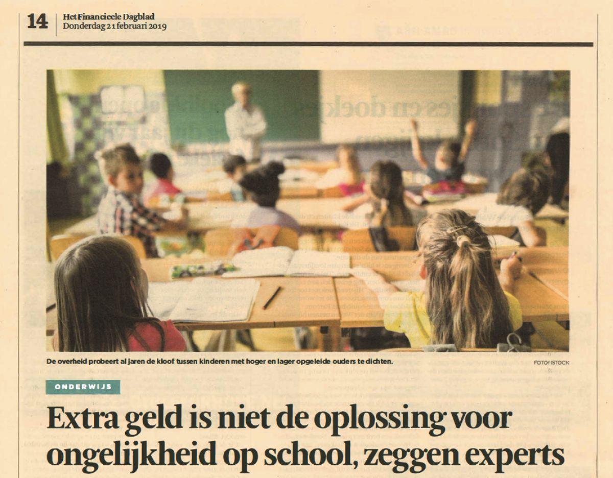 Ons onderwijssysteem versterkt ongelijkheid
