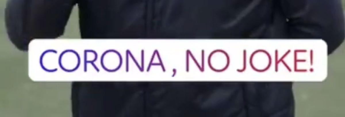 Cornona, no joke