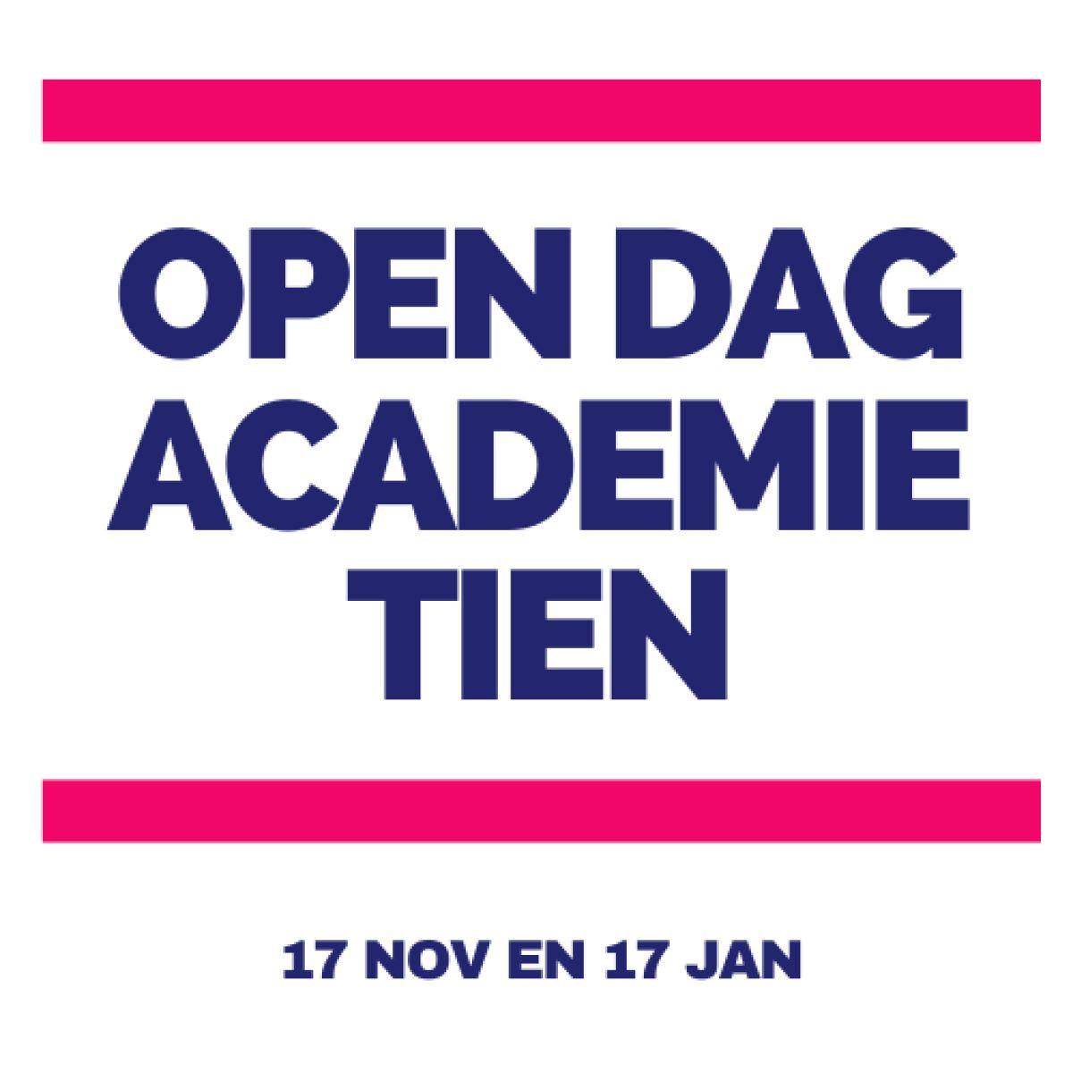 Open dag op 17 november gaat door!