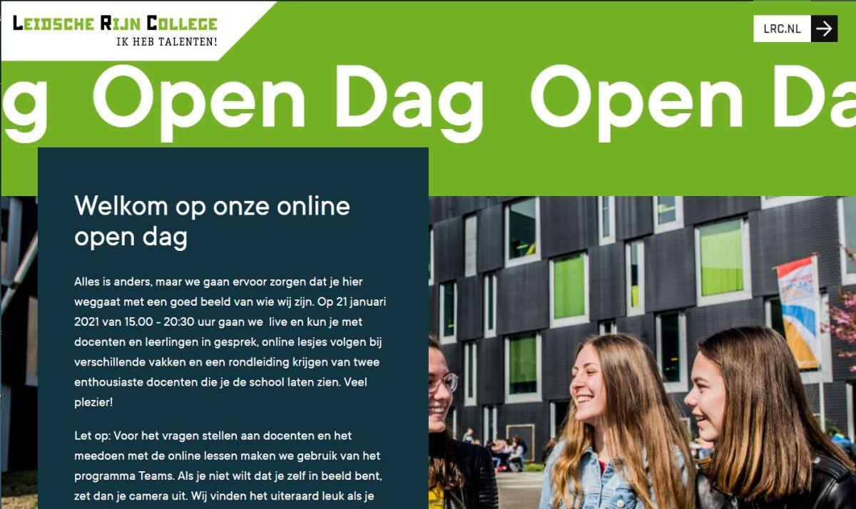 Online Open dag LRC 21 januari van 15:00 tot 20:30 uur