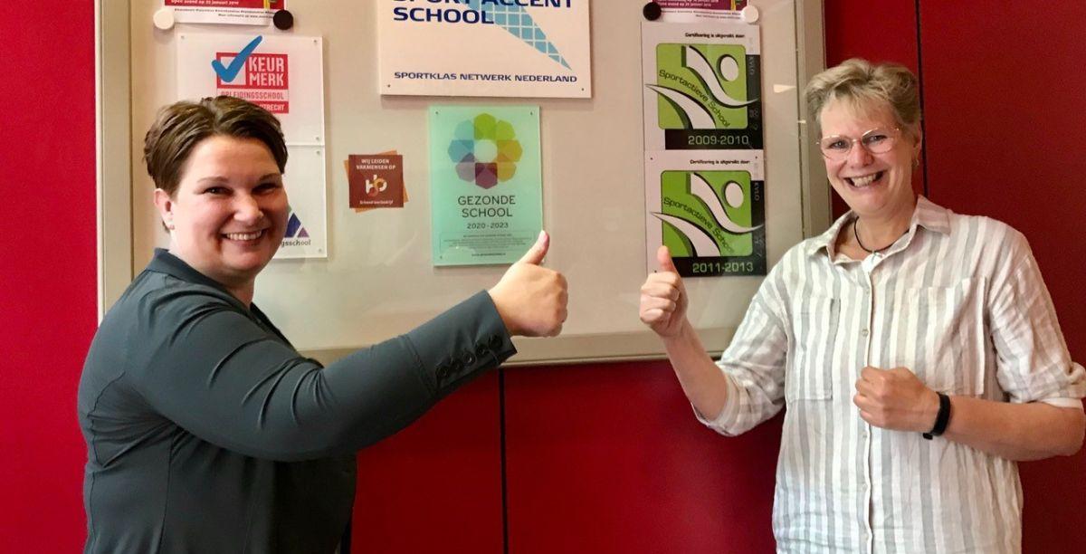 Vignet Gezonde School uitgereikt door wethouder Chantal Broekhuis
