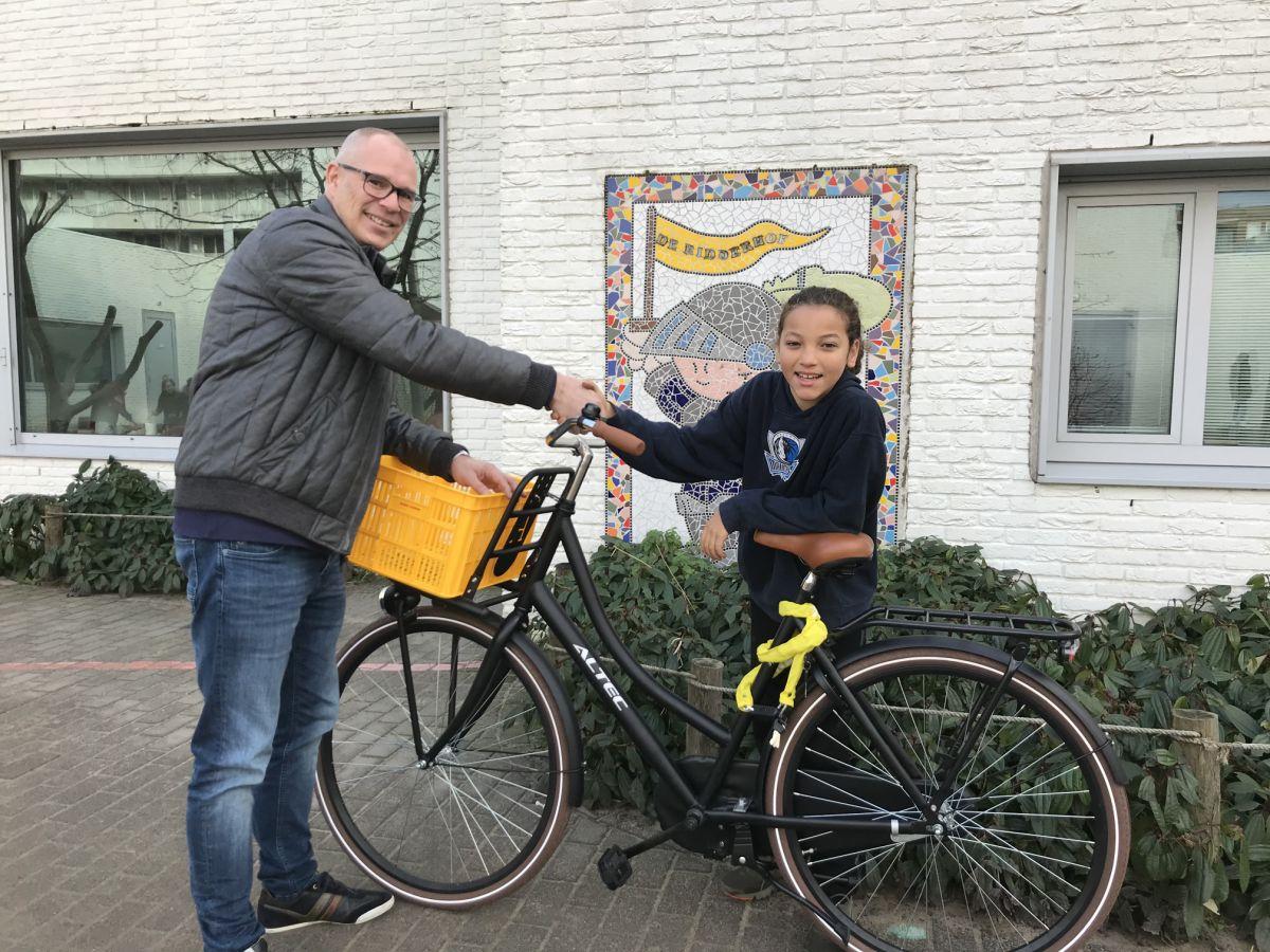 Prijsuitreiking fiets