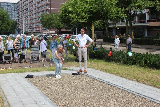 Opening van de Trimbaan in door wethouder Jan Pieter van der Schans.