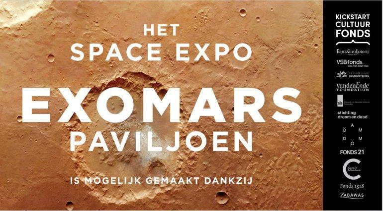 Bord Space Expo ExoMars Paviljoen