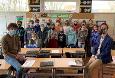 Ruimteles voor groep 8 van basisschool De Jutter