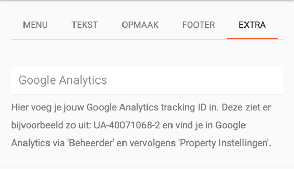 Google Analytics en HTML injectie