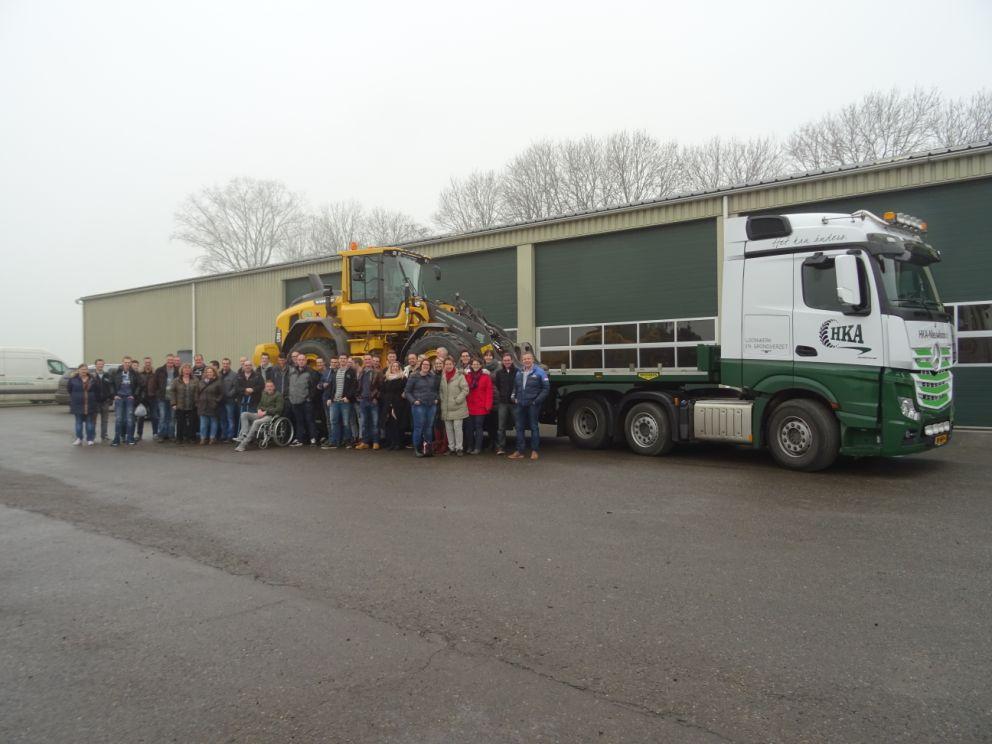 Team voor vrachtwagen